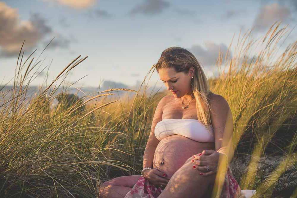gravid fotografering udendørs Vejle